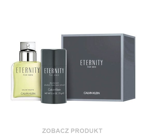 CALVIN KLEIN ETERNITY FOR MEN WODA TOALETOWA SPRAY 100ML + DEZODORANT SZTYFT 75G