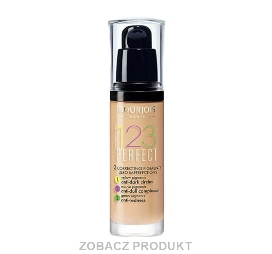 BOURJOIS 123 PERFECT FOUND. PODKŁAD 53 LIGHT BEIGE