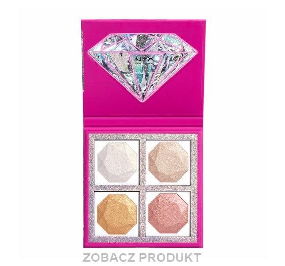 NYX PROFESSIONAL MAKEUP DIAMONDS & ICE PLEASE PALETA ROZŚWIETLACZY BEST LIFE 4X20G