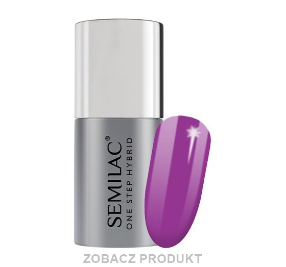 SEMILAC ONE STEP HYBRID LAKIER HYBRYDOWY UV S760 HYACINTH VIOLET 5ML