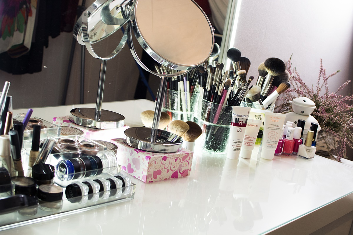 uporzadkowane kosmetyki