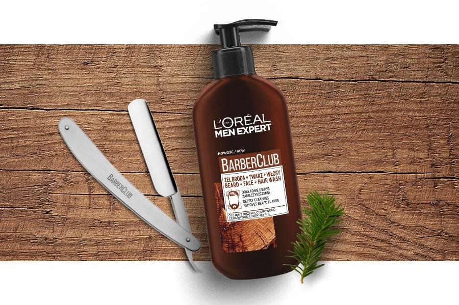 barberclub l'oreal żel broda twarz włosy